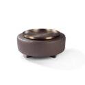THAYER COGGIN Toasted Clip Tray-Round Brushed Bronze Tray