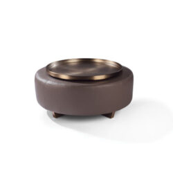 THAYER COGGIN Toasted Clip Tray-Round Brushed Bronze Tray 1