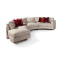 THAYER COGGIN Toasted Clip-Left Chaise
