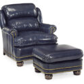 Hancock and Moore Austin Chair and Ottoman