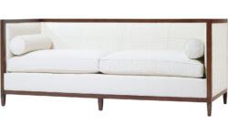 Baker Archetype Wood Banded Sofa 1