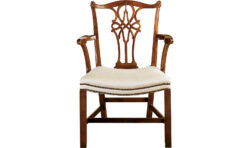 Baker George III Mahogany Arm Chair 1