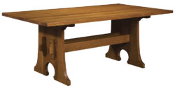 Stickley Keyhole Trestle Table 1