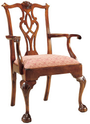 Stickley Chippendale Ball & Claw Arm Chair 1