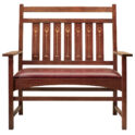 Stickley Harvey Ellis Settee, with Inlay