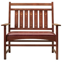 Stickley Harvey Ellis Settee, with Inlay 1