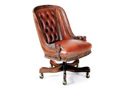 Hancock and Moore Appointment Tufted Swivel-Tilt Chair