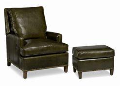 Hancock and Moore Arrington Tilt Back Chair and Ottoman