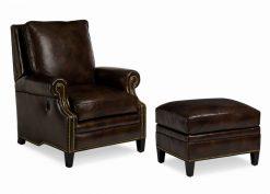 Hancock and Moore Anderson Tilt Back Chair and Ottoman