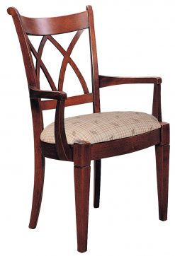 Stickley Lafayette Lattice Arm Chair