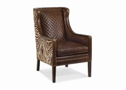 Hancock and Moore Brogan Quilted Back Chair