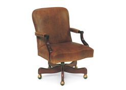 Hancock and Moore Arnold Swivel-Tilt Chair with Manual Lift