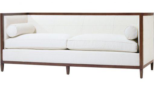 Baker Archetype Wood Banded Sofa