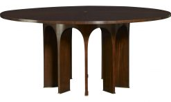 "Baker 82"" Wood Top Arcade Dining Table"