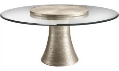 """Baker Katoucha 72"""" Dining Table w/36"""" Lazy Susan"""