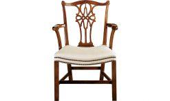 Baker George III Mahogany Arm Chair
