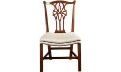 Baker George III Mahogany Side Chair