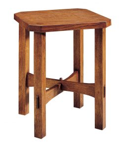 Stickley Wood Top Tabouret Table