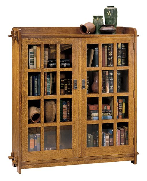 Stickley Double Bookcase with Glass Doors