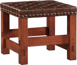 Stickley Woven Leather Stool