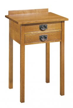 Stickley Two Drawer Tall Night Stand